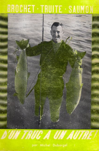 Michel Duborgel avec deux saumons