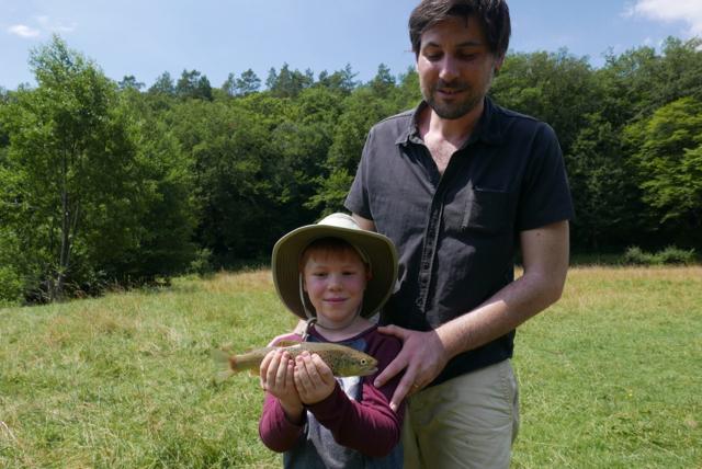 Néo première truite fario 29 cm et Marco