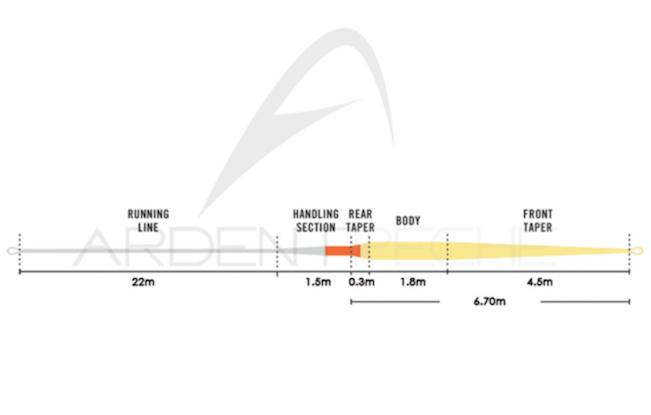 Profil et longueur de la tête Rio Intouch Trout Spey « Scandi »