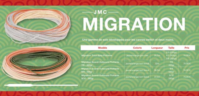 Masse soie JMC Migration Trout Spey # 2:3 (230 grains : 14 9 grammes)