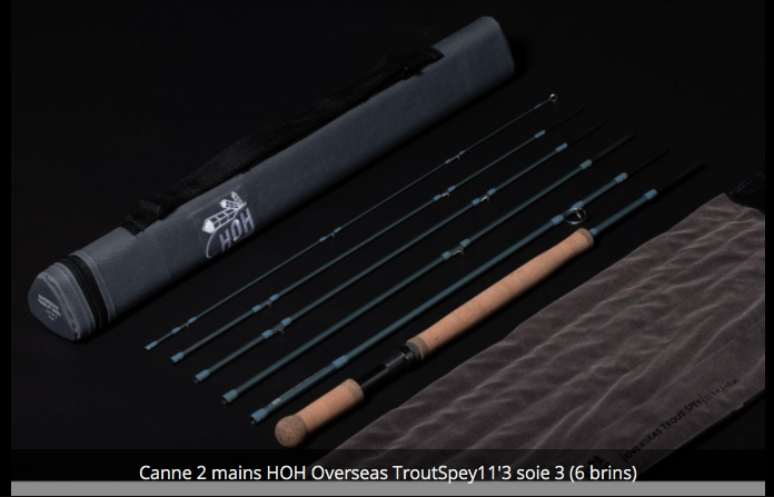 Canne à deux mains Switch HOH Overseas Trout Spey 11'3 soie 3 en 6 brins