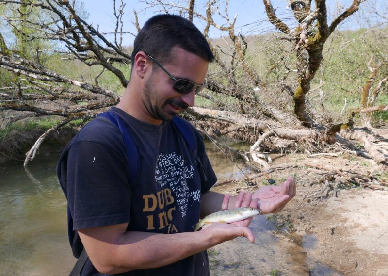 Patrick petite truite mouche sèche