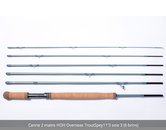 Canne à deux mains Switch HOH Overseas Trout Spey 11'3 # 3 en 6 brins