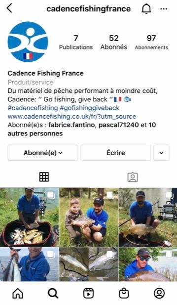 Instagram Cadencefishingfrance