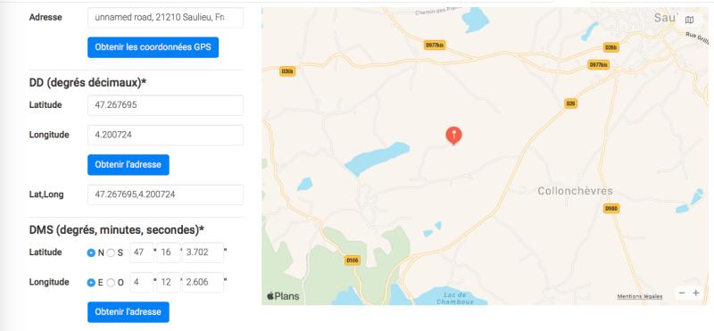 Coordonnées GPS salon mouche Cadence à L'Éphémère de Bourgogne